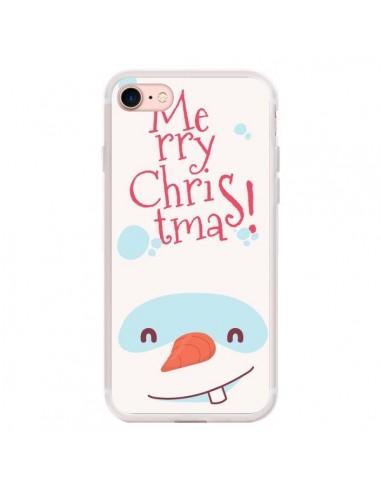 Coque iPhone 7/8 et SE 2020 Bonhomme de Neige Merry Christmas Noël - Nico