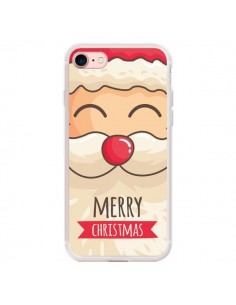 Coque iPhone 7 et 8 Moustache du Père Noël Merry Christmas - Nico