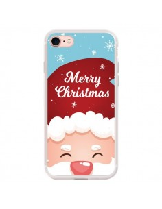 Coque iPhone 7 et 8 Bonnet du Père Noël Merry Christmas - Nico