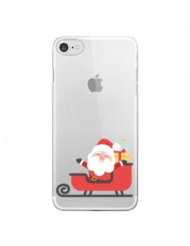 Coque iPhone 7/8 et SE 2020 Père Noël et son Traineau transparente - Nico