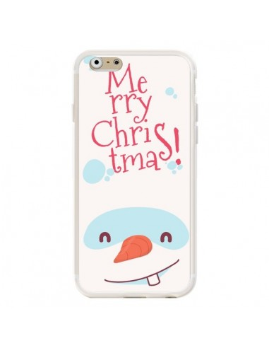 Coque iPhone 6 et 6S Bonhomme de Neige Merry Christmas Noël - Nico