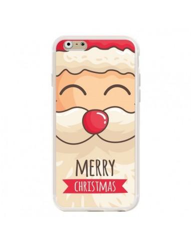 Coque iPhone 6 et 6S Moustache du Père Noël Merry Christmas - Nico