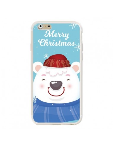 Coque iPhone 6 et 6S Ours Blanc de Noël Merry Christmas - Nico