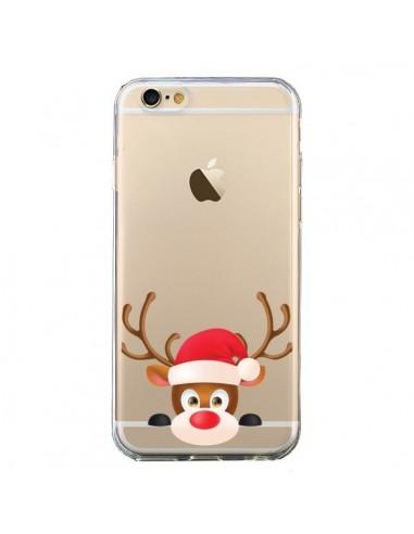 Coque iPhone 6 et 6S Renne de Noël transparente - Nico