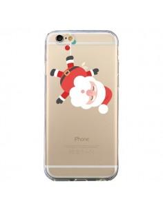Coque iPhone 6 et 6S Père Noël et sa Guirlande transparente - Nico