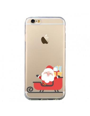Coque iPhone 6 et 6S Père Noël et son Traineau transparente - Nico