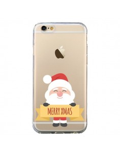 Coque iPhone 6 et 6S Père Noël Merry Christmas transparente - Nico