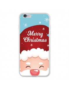 Coque iPhone 6 Plus et 6S Plus Bonnet du Père Noël Merry Christmas - Nico