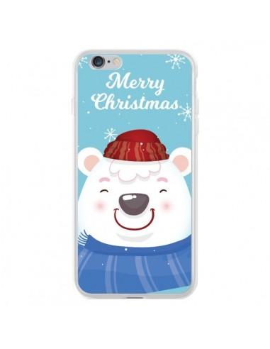 Coque iPhone 6 Plus et 6S Plus Ours Blanc de Noël Merry Christmas - Nico