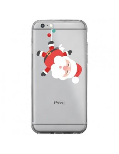 Coque iPhone 6 Plus et 6S Plus Père Noël et sa Guirlande transparente - Nico