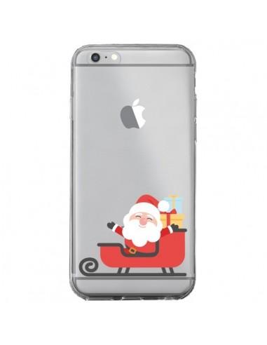 Coque iPhone 6 Plus et 6S Plus Père Noël et son Traineau transparente - Nico