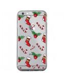 Coque iPhone 6 Plus et 6S Plus Chaussette Sucre d'Orge Houx de Noël transparente - Nico