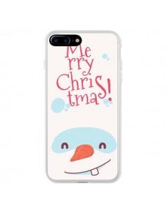 Coque iPhone 7 Plus et 8 Plus Bonhomme de Neige Merry Christmas Noël - Nico