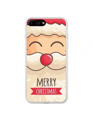 Coque iPhone 7 Plus et 8 Plus Moustache du Père Noël Merry Christmas - Nico