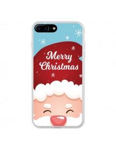 Coque iPhone 7 Plus et 8 Plus Bonnet du Père Noël Merry Christmas - Nico