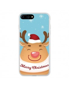 Coque iPhone 7 Plus et 8 Plus Renne de Noël Merry Christmas - Nico