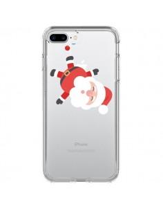 Coque iPhone 7 Plus et 8 Plus Père Noël et sa Guirlande transparente - Nico