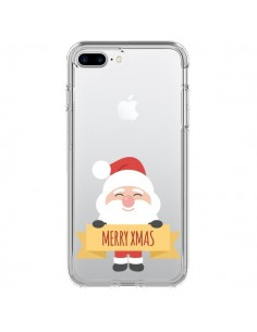 Coque iPhone 7 Plus et 8 Plus Père Noël Merry Christmas transparente - Nico