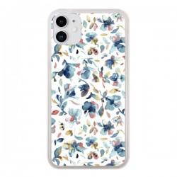 Coque iPhone 11 Watery Hibiscus Blue - Ninola Design