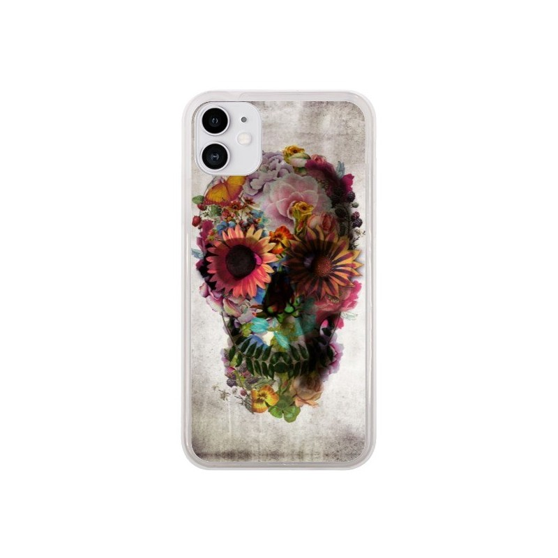 Coque iPhone 11 Skull Flower Tête de Mort - Ali Gulec