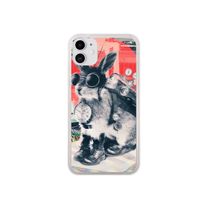 Coque iPhone 11 Lapin Time Traveller - Ali Gulec