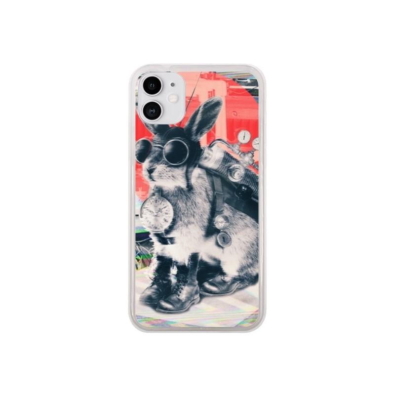 Coque iPhone 11 Lapin Time Traveller - Ali Gulec