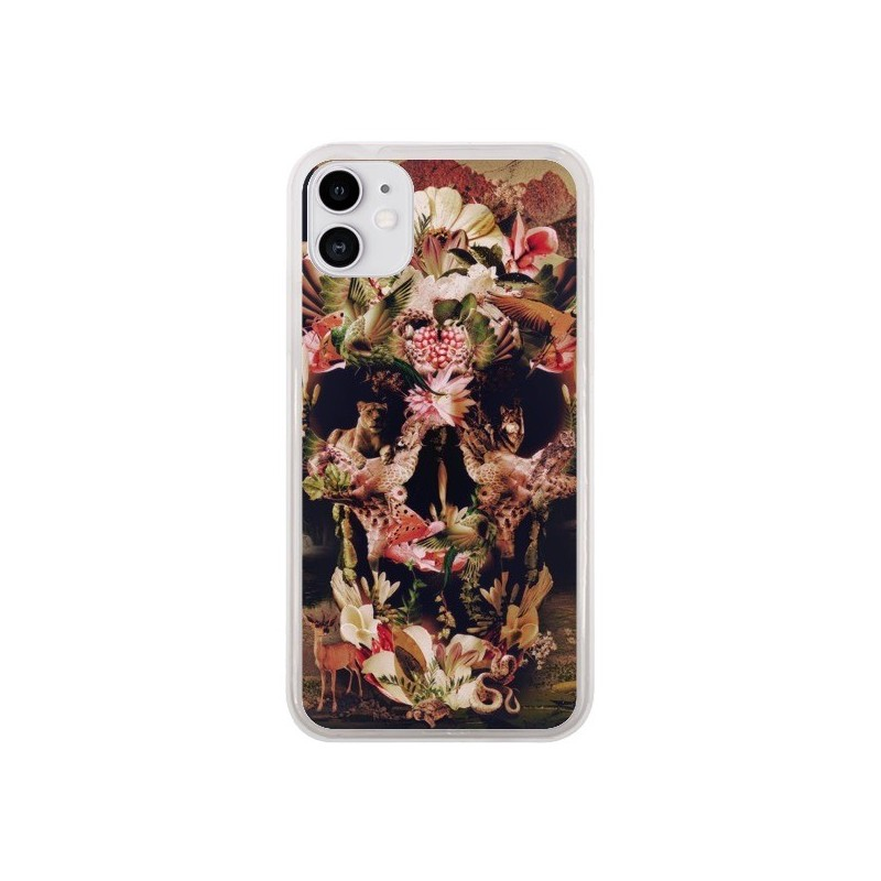 Coque iPhone 11 Jungle Skull Tête de Mort - Ali Gulec