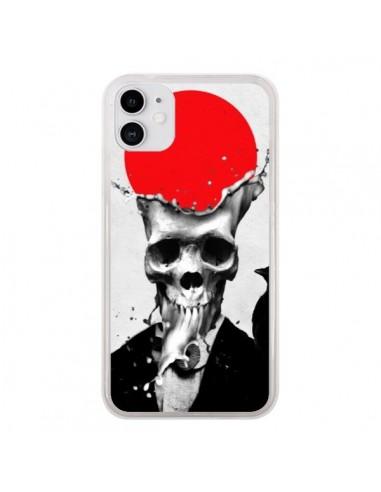 Coque iPhone 11 Splash Skull Tête de Mort - Ali Gulec