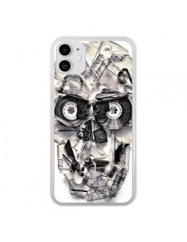 Coque iPhone 11 Tape Skull K7 Tête de Mort - Ali Gulec