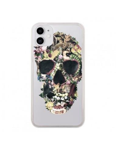 Coque iPhone 11 Skull Vintage Tête de Mort Transparente - Ali Gulec