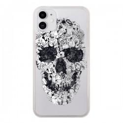 Coque iPhone 11 Doodle Skull Dessin Tête de Mort Transparente - Ali Gulec