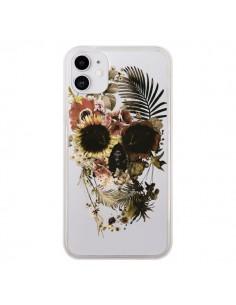 Coque iPhone 11 Garden Skull Tête de Mort Transparente - Ali Gulec