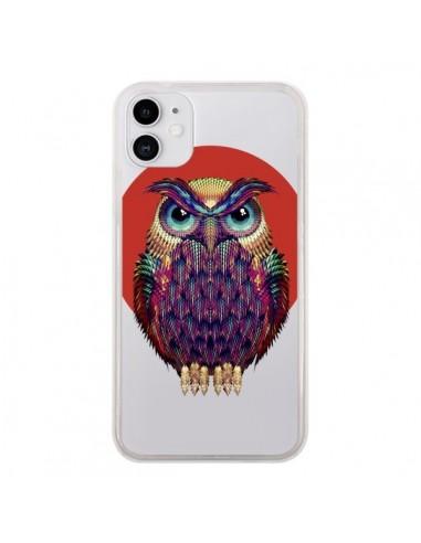 Coque iPhone 11 Chouette Hibou Owl Transparente - Ali Gulec