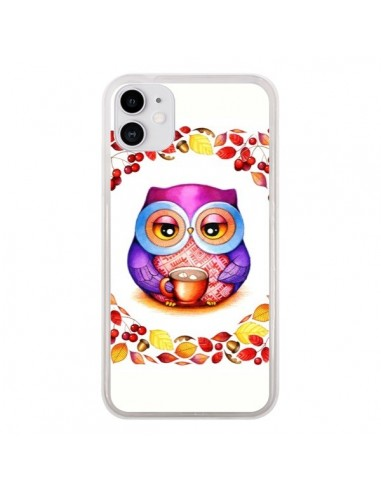 Coque iPhone 11 Chouette Automne - Annya Kai