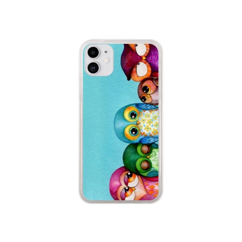 Coque iPhone 11 Famille Chouettes - Annya Kai