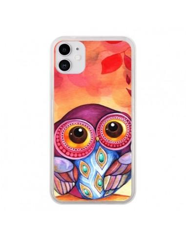 Coque iPhone 11 Chouette Feuilles Automne - Annya Kai