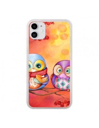 Coque iPhone 11 Chouette Arbre - Annya Kai