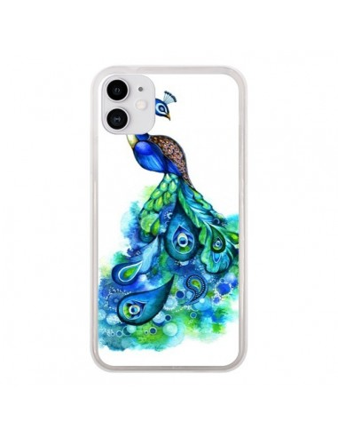 Coque iPhone 11 Paon Multicolore - Annya Kai