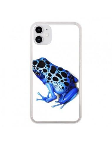 Coque iPhone 11 Grenouille Bleue - Annya Kai