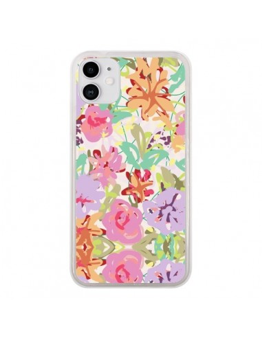 Coque iPhone 11 Fleurs Botanical - AlekSia