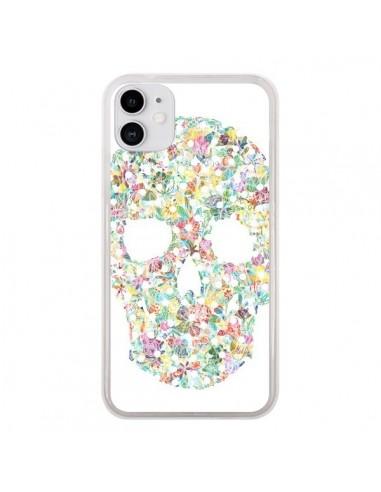 Coque iPhone 11 Flower Skull Tête de Mort - AlekSia