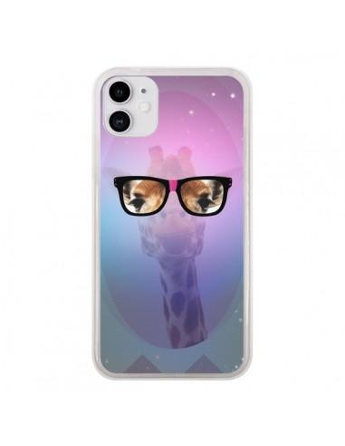 Coque iPhone 11 Girafe Geek à Lunettes - Aurelie Scour