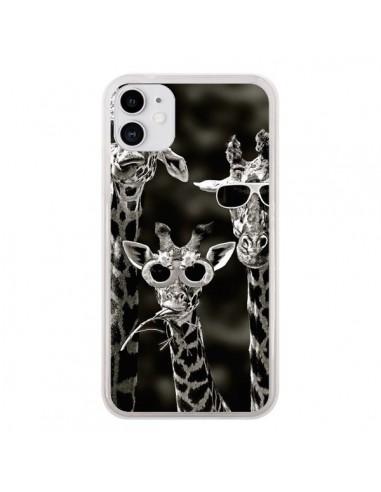 Coque iPhone 11 Girafe Swag Lunettes Familiy Giraffe - Asano Yamazaki