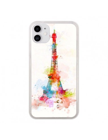 Coque iPhone 11 Paris Tour Eiffel Muticolore - Asano Yamazaki