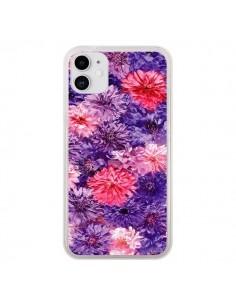 Coque iPhone 11 Fleurs Violettes Flower Storm - Asano Yamazaki