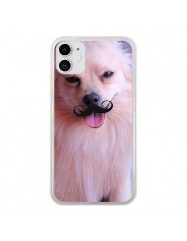 Coque iPhone 11 Clyde Chien Movember Moustache - Bertrand Carriere