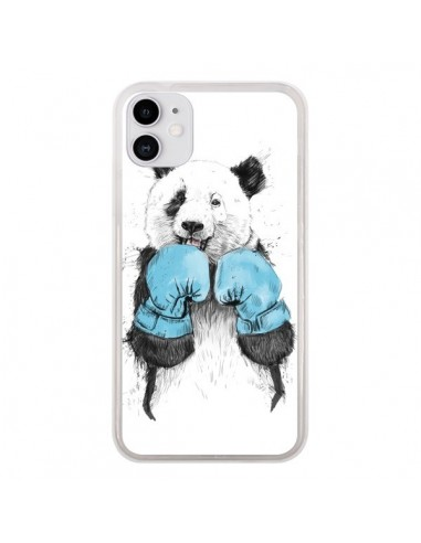 Coque iPhone 11 Winner Panda Boxeur - Balazs Solti