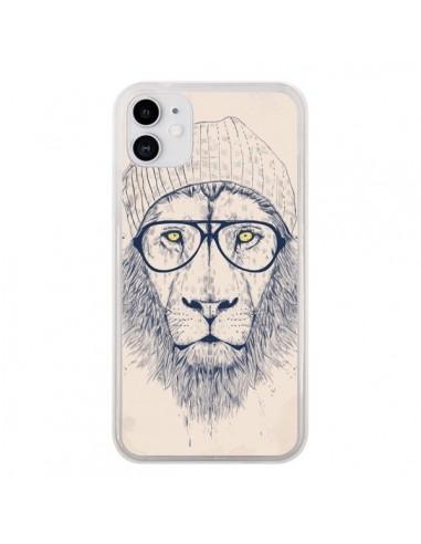 Coque iPhone 11 Cool Lion Lunettes - Balazs Solti