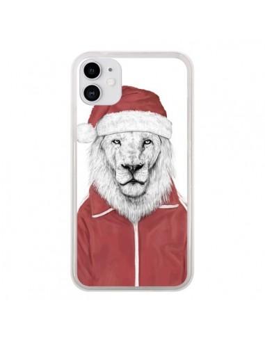 Coque iPhone 11 Santa Lion Père Noel - Balazs Solti