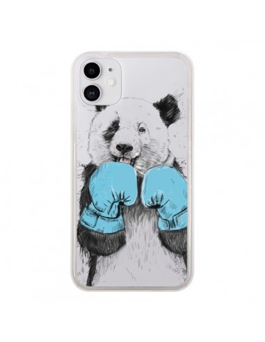 Coque iPhone 11 Winner Panda Gagnant Transparente - Balazs Solti
